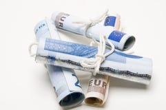 Broodjes van geld Stock Foto's