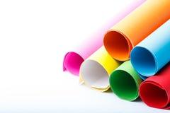 Broodjes van kleur papier-4 Stock Fotografie