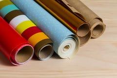 Broodjes van kleurrijk verpakkend document Royalty-vrije Stock Afbeelding