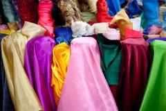 Broodjes van multicoloured textiel Stock Foto's
