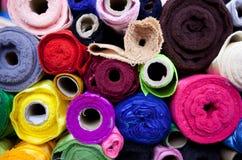 Broodjes van multicoloured textiel Stock Foto