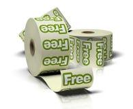Broodjes van vrije stickers stock illustratie