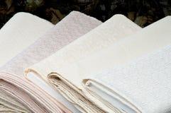 Broodjes van witte stof Stock Afbeeldingen