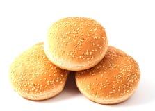 Broodjes voor hamburger, cheeseburger Royalty-vrije Stock Foto