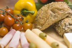 Broodjes voor ontbijt Stock Afbeelding