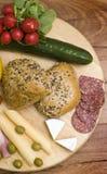 Broodjes voor ontbijt Stock Fotografie