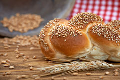 Broodjesbrood & Tarwe Royalty-vrije Stock Foto's