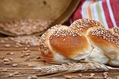 Broodjesbrood & Tarwe Stock Foto's