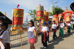 2015 Broodjesfestival in Cheung Chau, Hong Kong Stock Afbeeldingen