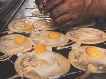 Broodjespannekoek, Voedselstraat Royalty-vrije Stock Afbeeldingen