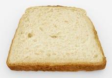 Broodplak - enig die toostclose-up - op wit wordt geïsoleerd Stock Foto's