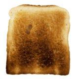Broodplak - enig gebakken toostclose-up - op wit Royalty-vrije Stock Fotografie