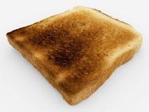 Broodplak - enig gebakken toostclose-up - op wit Royalty-vrije Stock Afbeelding