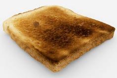 Broodplak - enig gebakken toostclose-up - op wit Royalty-vrije Stock Foto's
