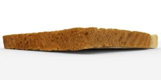 Broodplak - het enige die close-up van de toostkorst - op wit wordt geïsoleerd Stock Fotografie
