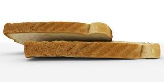 Broodplakken - rooster paar, lage die hoekmening - op wit wordt geïsoleerd Royalty-vrije Stock Fotografie