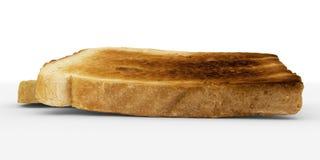 Broodplakken - toostpaar, lage hoekmening - op wit Stock Foto's