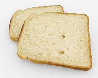 Broodplakken - toostpaar - op wit Royalty-vrije Stock Foto
