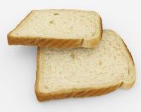 Broodplakken - toostpaar - op wit wordt geïsoleerd dat Stock Fotografie