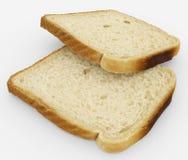 Broodplakken - toostpaar - op wit wordt geïsoleerd dat Stock Foto's