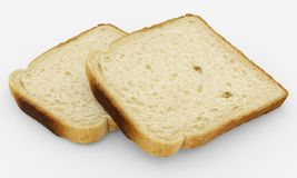 Broodplakken - toostpaar - op wit wordt geïsoleerd dat Stock Afbeeldingen