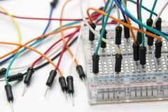 Broodplank Jumper Cable Wires Stock Afbeeldingen