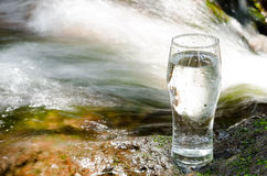 Brook and glass Stock Photography