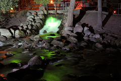 Brook at night Royalty Free Stock Photography
