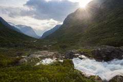 A brook in Norway. 's mountains a beautiful summer day Royalty Free Stock Photo
