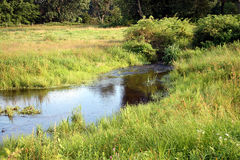A brook runs through it Stock Image