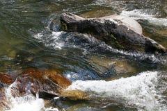 Brook Scene. Colorful foaming water brook scene stock photos