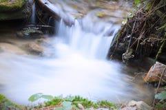 Brook waterfall closeup Royalty Free Stock Image