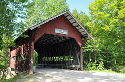 Brookdale Covered Bridge. On Brook Road in Stowe, Vermont; also known as Brook Road or White Caps Bridge royalty free stock photography