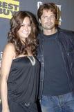 Brooke Burke y David Charvet en la alfombra roja Imagen de archivo libre de regalías