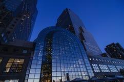 Brookfield plaatst vroeger het Wereld Financiële Centrum Stock Foto