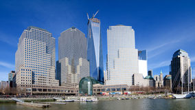 Brookfield Place Formerly the World Financial Center. New York City, New York - April 2013 - Pictured in this panoramic view is Brookfield Place formerly known Royalty Free Stock Photo