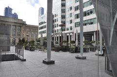 Brookfield Place Terrace from Toronto in Ontario Province Canada. Terrace at Brookfield Place from Toronto in Ontario Province of Canada on 24th June 2017 Stock Photos