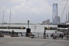 New York City, 2nd July: Brookfield Place Waterfront in Manhattan from New York City in United States stock photo