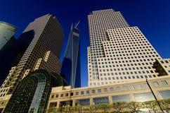 Brookfieldplaats en Freedom Tower Stock Foto's