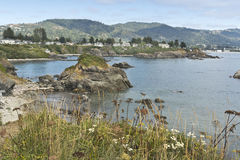 Brookings, Oregon from Chetco Point Stock Photos