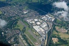 Brooklands竞赛线路,鸟瞰图 免版税库存图片