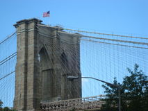 Brooklin bridge. Image of one of the symbols of the city of New York stock image