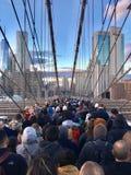 Brooklin Bridge overcrowded stock image