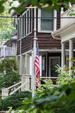 Brookline, Boston. Residential neighborhood of Brookline, Boston. This area has been the house of the US President John F. Kennedy Royalty Free Stock Photo