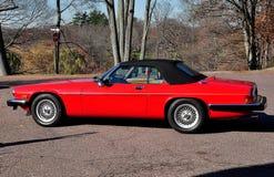 Brookline, doctorandus in de letteren: 1990 Convertibel Jaguar Royalty-vrije Stock Fotografie