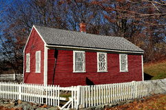 Brookline, mA: Casa de la escuela de Putterham Foto de archivo