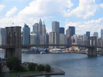 Brooklyin bridge detail. View of Brooklyin bridge in Manhattan Stock Photography