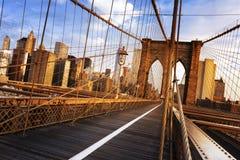 Brooklyn överbryggar i New York City Arkivbild