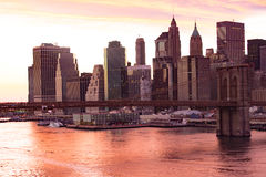 Brooklyn överbryggar i New York City arkivfoton