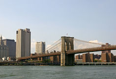 Brooklyn överbryggar och Manhattan, New York USA Royaltyfria Bilder